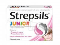 Strepsils Junior truskawkowy 24 past. do ssania